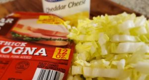 cheddar cheese cabbage and sausage