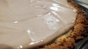 grandma's cheesecake with chocolate sour cream