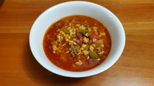 mexican barley soup (adapted from mexican recipes, 1967)