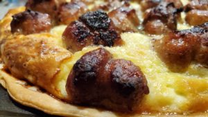 cheese apple sausage brunch tart (wisconsin, 1989, adapted)