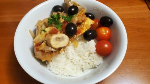 chicken with tabasco and indian spices (adapted from just one pot, 2007)