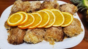 baked orange coconut chicken (adapted from hawaii kai cookbook, 1970)