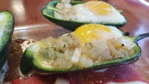peppers stuffed with eggs (adapted from old-time meatless recipes, 1955)