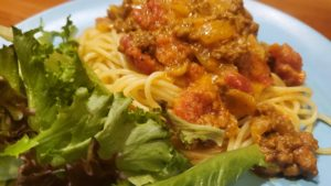 curry spaghetti (missouri, 1964, adapted)